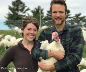 Mark Brady & Katie Kennedy of Timberfeast farms make it easy to purchase their pasture-raised turkey. Head over to their website for online ordering and pick up options, and while you're there, choose from hundreds of other local ingredients in their online store.